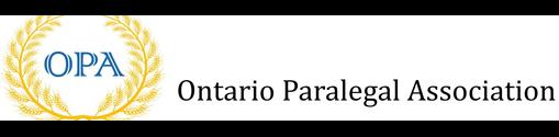 Ontario Paralegal Association