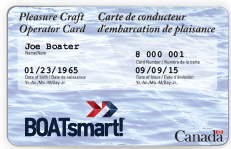 Pleasure craft operators licence
