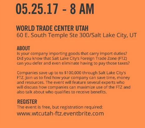 Global Chamber Las Vegas | SLC Foreign Trade Zone Seminar