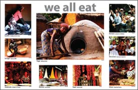 We all eat poster