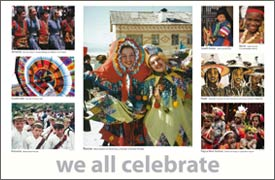 We all celebrate poster