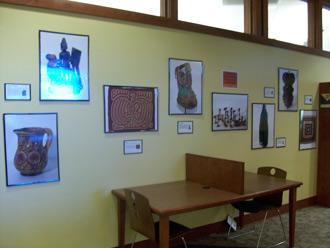 Display at the Teen Reading Area at Verona Public Library