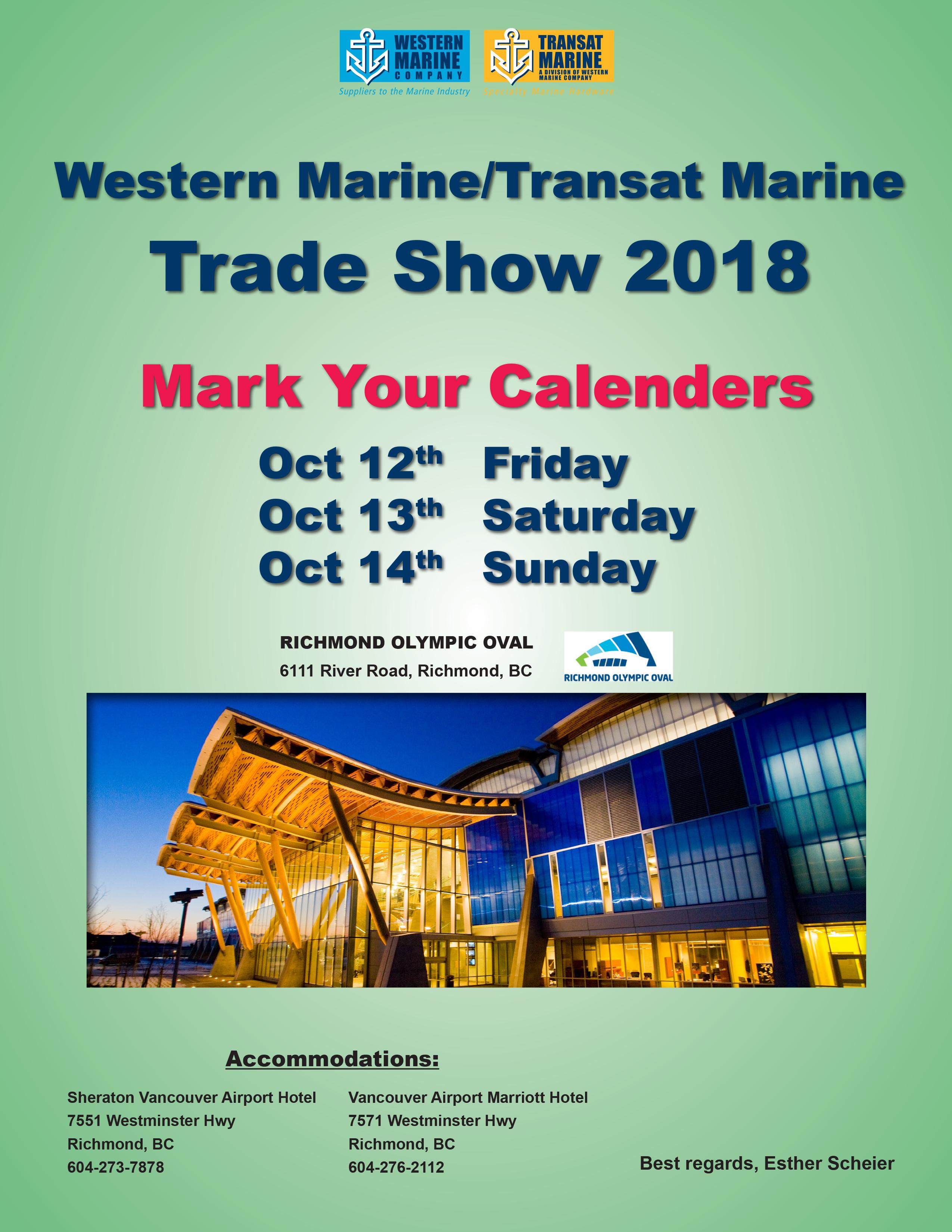 Western Marine Tradeshow @ Richmond Oval