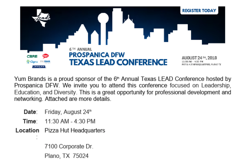 Global Chamber Dallas | DFW 6th Annual Prospanica DFW Texas