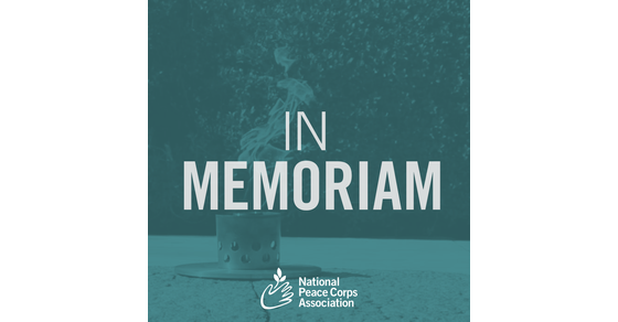 National Peace Corps Association   In Memoriam - August 2019