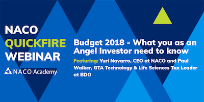 Budget 2018 - What you as an Angel Investor need to know