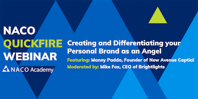 Creating and Differentiating your Personal Brand as an Angel