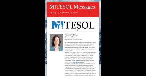 Mitesol February 2019 Issue Mitesol Newsletter