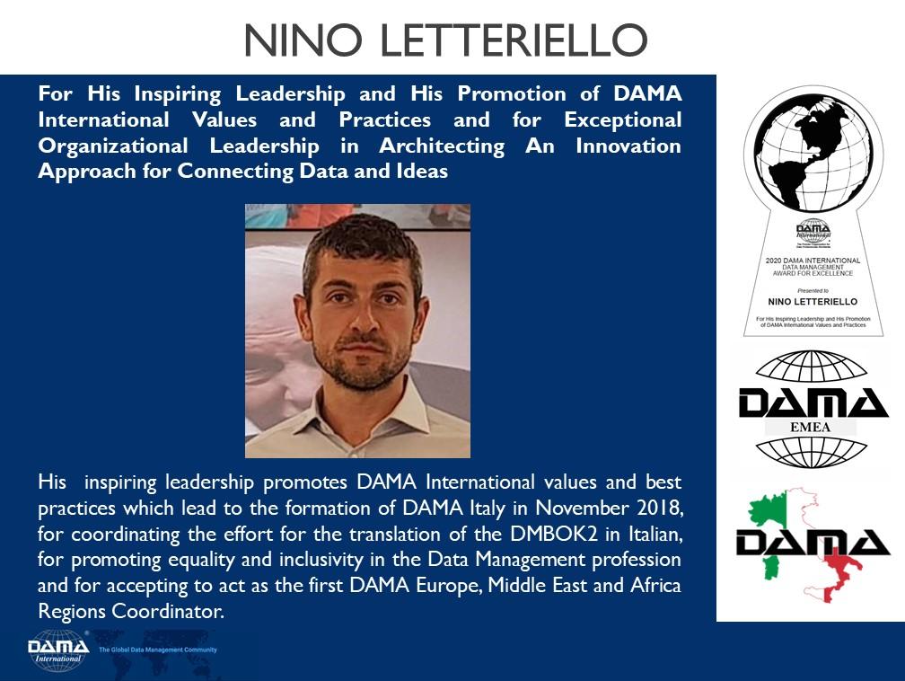 Nino Letteriello - DAMA International 2020 Award for Leadership