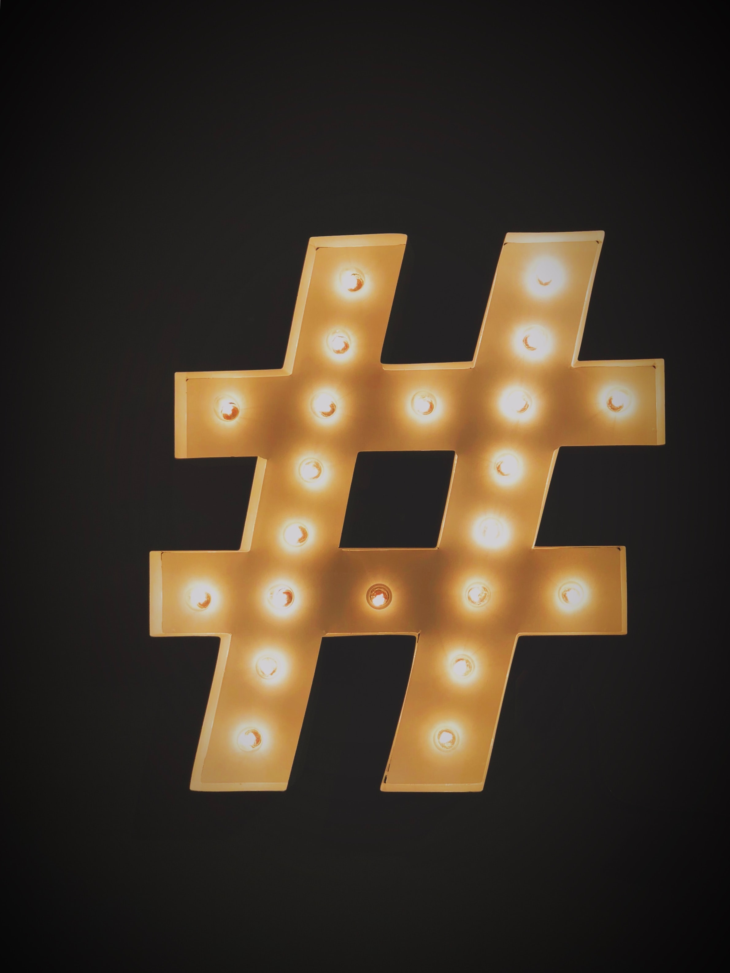 hashtag in lights