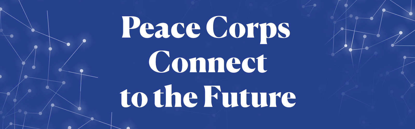 Peace Corps Connect to the Future logo