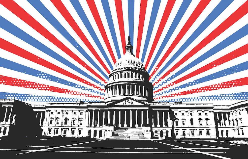 U.S. Capitol and stripes