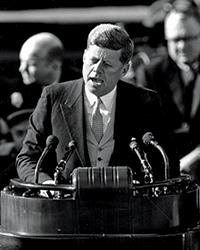 JFK speaking