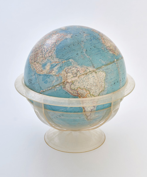 globe looking at the americas