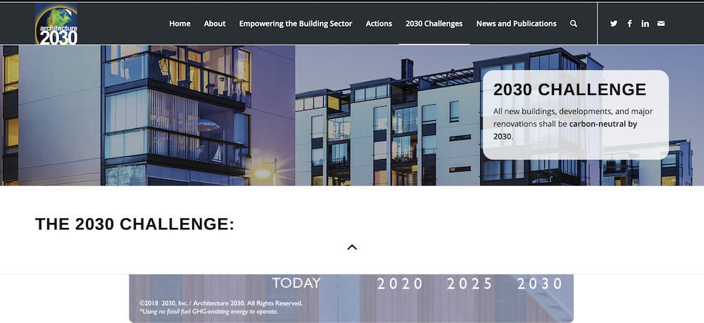Architecture 2030 webpage