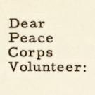 Dear Peace Corps Volunteer