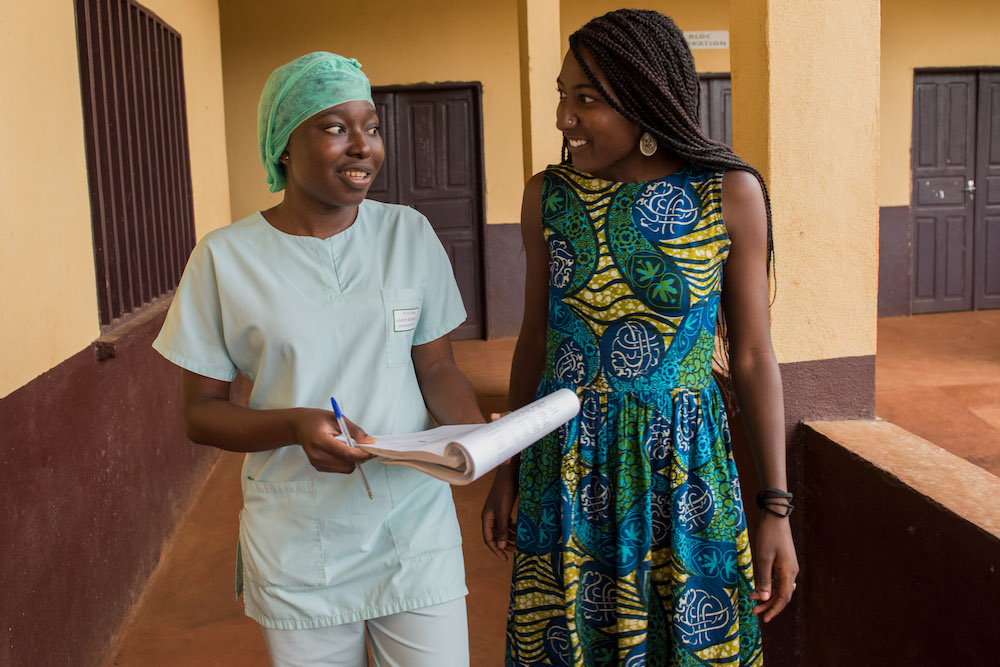 Peace Corps volunteer with Doctor
