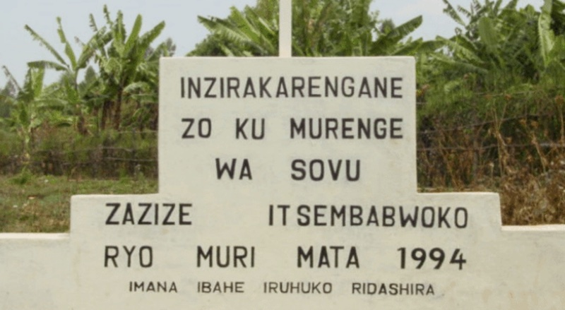 Sign in Rwanda for victims of genocide