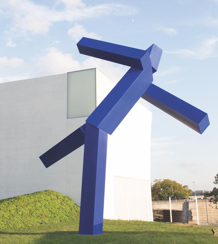 Blue, sculpture by Joel Shapiro