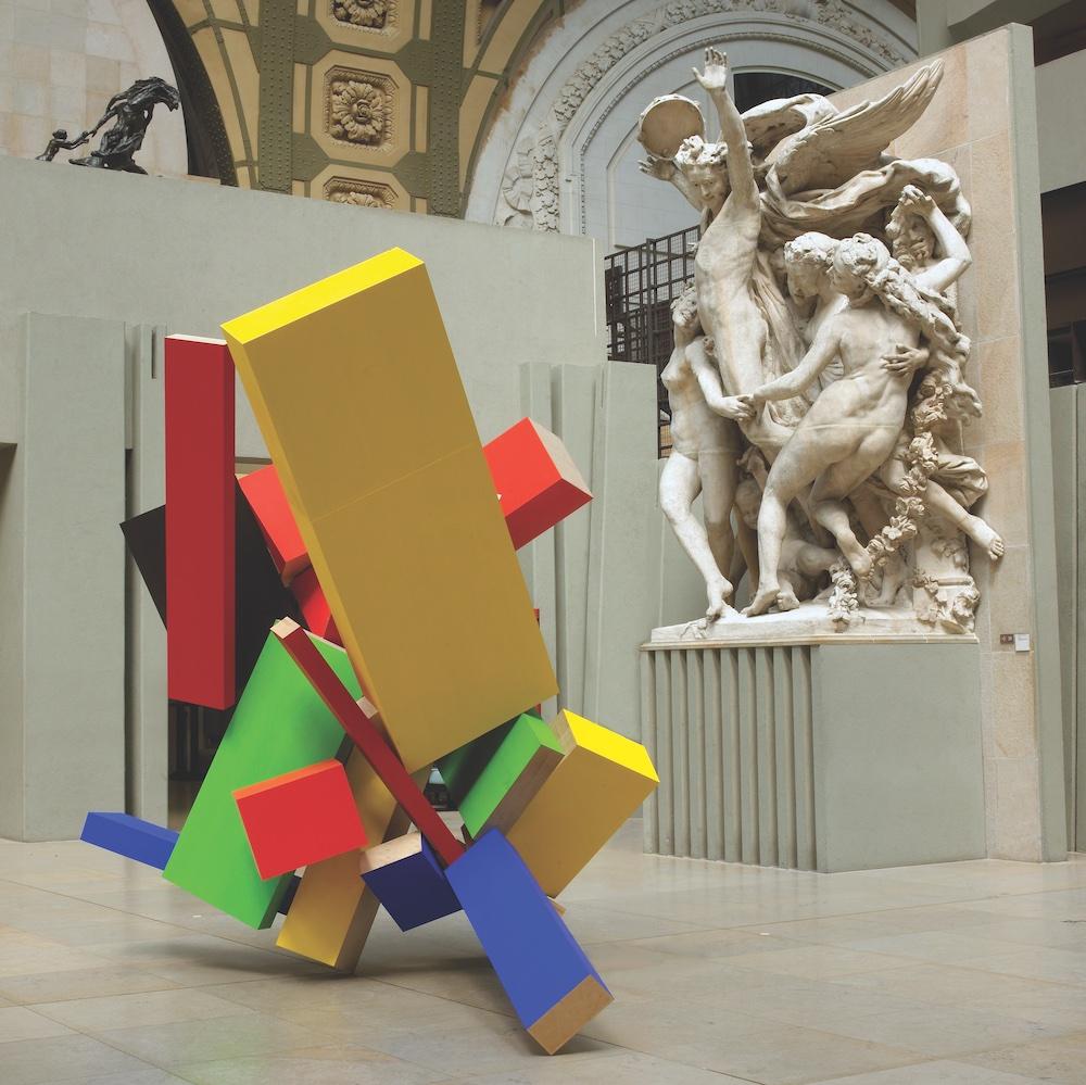 Sculpture by Joel Shapiro in Museum