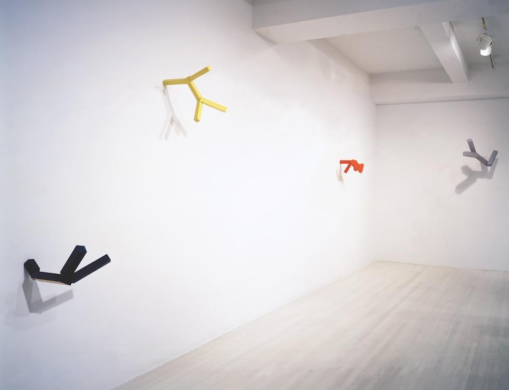 Joel Shapiro sculptures at Pace Gallery
