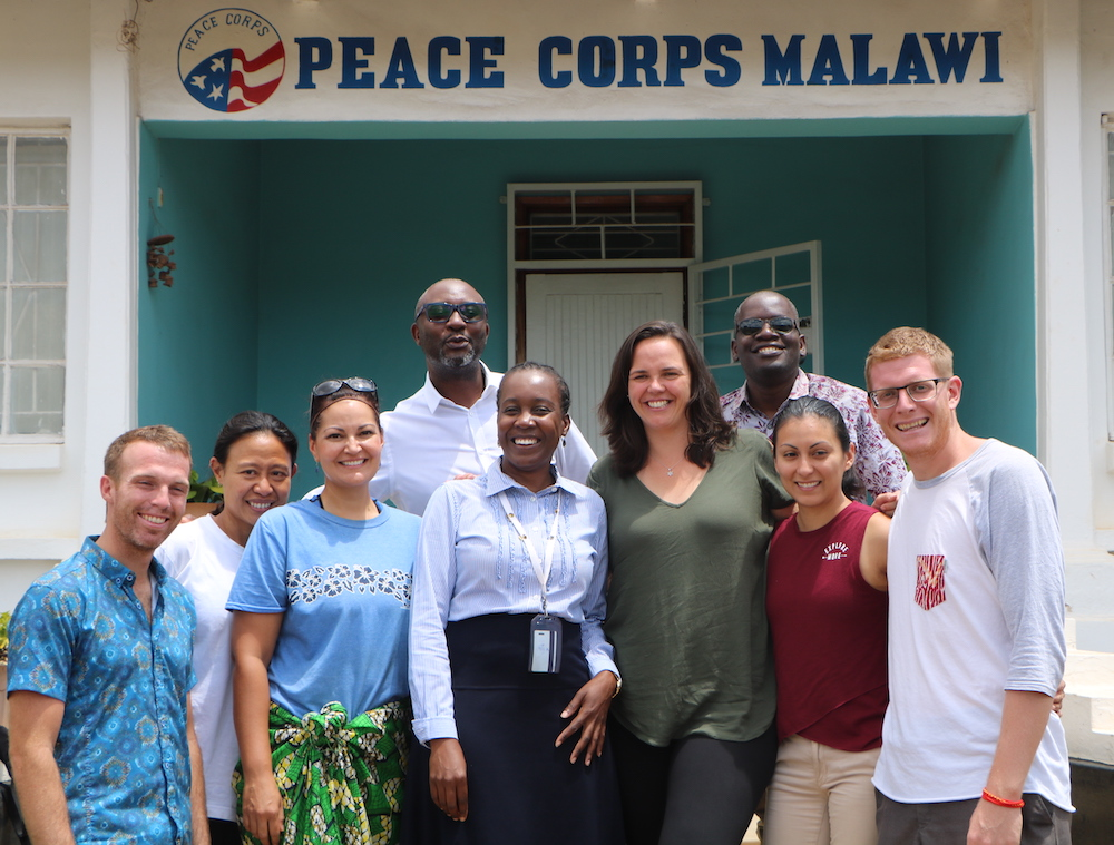 Staff and volunteers for Advancing Health Professionals program in Peace Corps Malawi