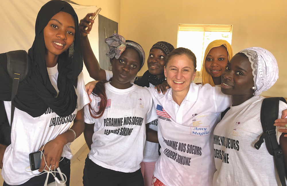 Amy Maglio and women in the Women's Global Education Project