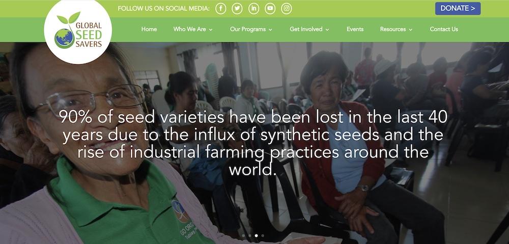 Global Seed Savers web page
