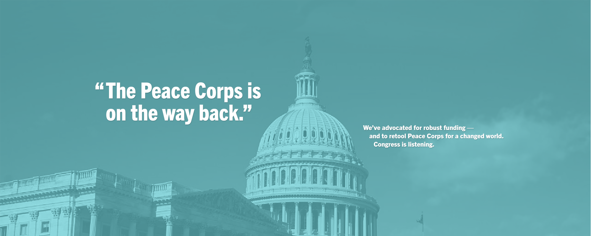 The Peace Corps is on the way back.